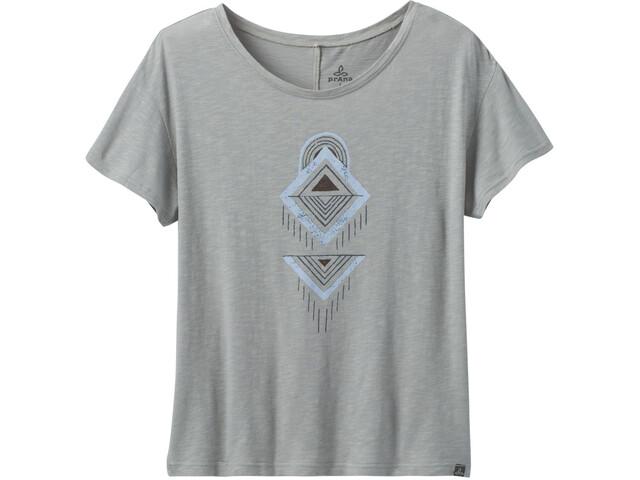 Prana Chez T-Shirt Femme, heather grey tribal